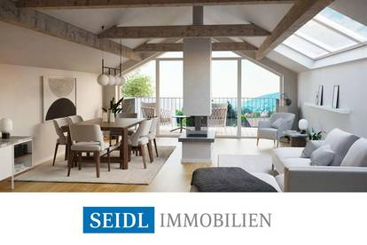 """HIMMELBLAU"" - Dachgeschoss-Wohnung in ruhiger Zentrumslage"
