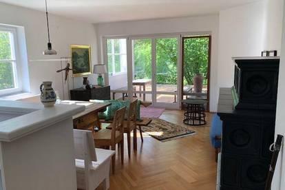 Bezaubernde 3 Zimmer Wohnung mit Garten unmittelbar beim Union Yacht Club Attersee