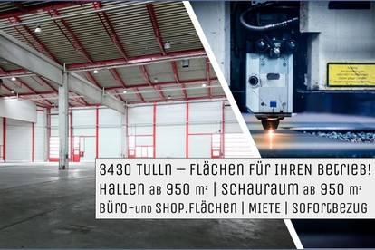 3430 TULLN - Gewerbepark Flächen für Produktion und Handel SOFORTBEZUG