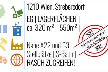 1210 Wien, STREBERSDORF Lagerflächen - MIETE