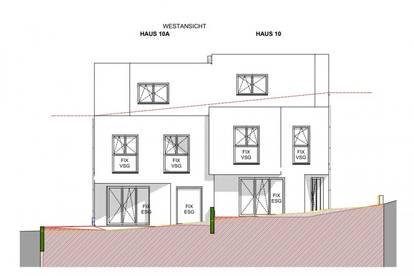 Ziegelmassiv Doppelhaushälfte in Grünruhelage mit Eigengarten, traumhafte Fernsicht, 5 Zimmer + vollunterkellert, Dachterrasse, Abstellplatz