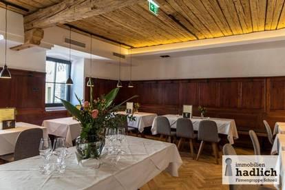 Restaurant mit ca. 100 Sitzplätzen, Seminarraum und Weinkeller direkt im Ortszentrum von Mariapfarr zu verpachten!