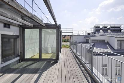DG-Maisonette mit Terrasse und Ausblick, Nähe KH Rudolfstiftung