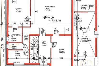 7 Zimmer Einfamilienhaus, Belagsfertig mit Garage und Garten