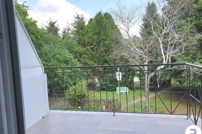 Neu sanierte 3 Zimmer Wohnung mit Balkon und Blick ins Grüne