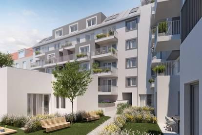 Wohnen im Kunsthaus Meidling - großzügig angelegte 3 Zimmer Wohnung mit Terrasse und Garten
