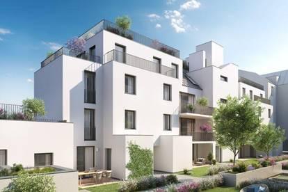 Südseitiges Anleger Wohnatelier mit Terrasse und Garten im Neubauprojekt R2