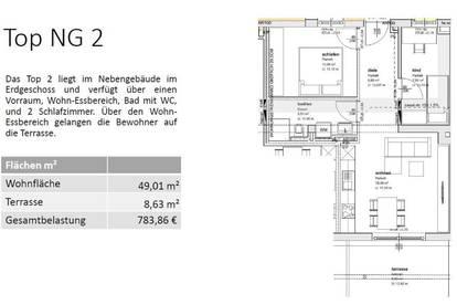 NG2 - EG 49 m² - EINE VON 16 MIETWOHNUNGEN IN GMUNDEN - SONNIGE LAGE - BALKON ODER TERRASSE