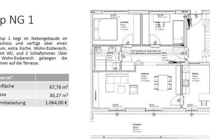 NG1 - EG 67,76 m² - MIETWOHNUNG IN GMUNDEN - SONNIGE LAGE - TERRASSE