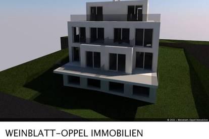 Grundstück mit baugenehmigten Plan für Doppelhaus
