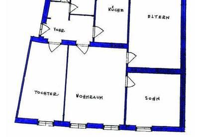 4 Zimmer Wohnung mit extra Küche zum SANIEREN