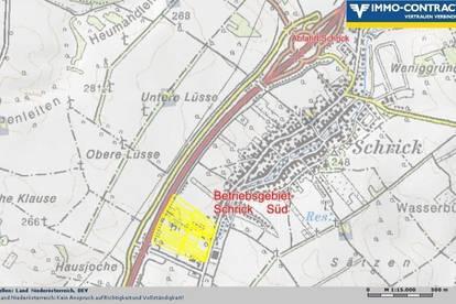 BETRIEBSGRUND, SCHRICK-SÜD  € 39,00/m²; AUTOBAHNANSCHLUSSNÄHE
