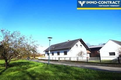 Dreikanthof, sehr gepflegt, mit zwei Wohneinheiten und großen Nebengebäuden in sonniger Dorfrandlage