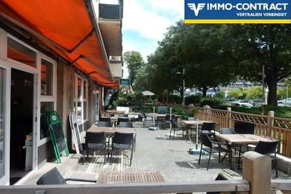 Direkt an der Wienerbergstraße - Restaurant mit Gastgarten in stark frequentierter Lage