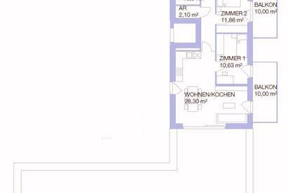 Traumhafte Neubauwohnung mit Terrasse und 2 Balkonen in St. Peter ...!