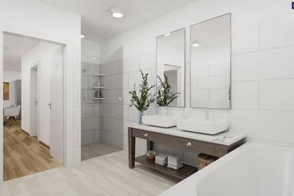 ABSOLUTE RUHELAGE: Traumhaftes Eckreihenhaus im Erstbezug + 4 Zimmer + 220 m² Eigengarten + Carport