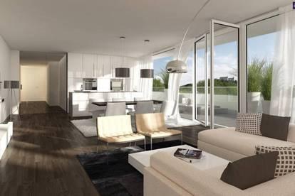 LETZTE EINHEIT! Fantastische Neubauwohnung 73 m² mit einer 128 m² Terrasse + traumhaften Ausblick! TOP LAGE in GRAZ!