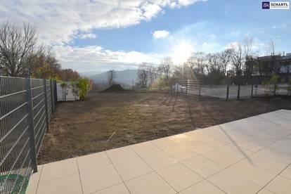 Wohnqualität auf höchstem Niveau! Majestätische Gartenwohnung mit drei Zimmer und großer Grünfläche!