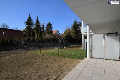 Idyllische Zwei- Zimmer Wohnung mit Eigengarten + großer Terrasse! Genießen Sie die Ruhe! JETZT VERFÜGBAR!