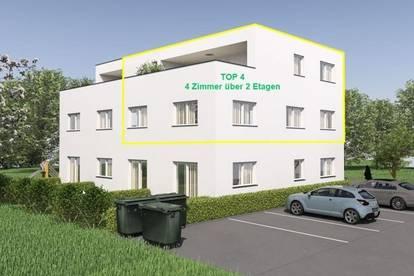 NEUBAU: 4 Zimmerwohnung über 2 Etagen mit ca. 96,7m² Wfl. und Sonnenterrasse in Gisingen! Top 4