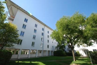 Lichtdurchflutete 2-Raum-Wohnung im EG mit eigener Terrasse! Inkl. perfekter öffentlicher Verkehrsanbindung in die Linzer Innenstadt! Provisionsfrei!