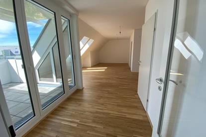 Einzigartiges Wohnerlebnis für Anspruchsvolle! NEUBAU DG-Wohnung im beliebten Stadtteil Linz-Oed! Loggia mit herrlicher Aussicht! Provisionsfrei!