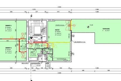 Zur Vermietung gelangt eine 95 m² Wohnung mit einer Terrasse mitten im Zentrum von Wiener Neustadt.