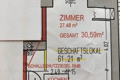 Demnächst: neu sanierte Mietwohnung (Top 9) mit 30,59 m² mitten in Neunkirchen!