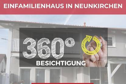 Modern eingerichtetes Einfamilienhaus mit Doppelgarage, Terrasse und Balkon mitten in Neunkirchen!