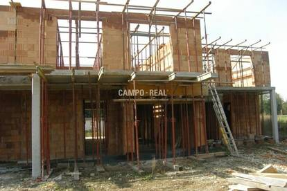 CAMPO-HAUS: Das OG ist auch schon aufgemauert! - Massiv-Bau, Wohntraum in einem Doppelhaus (3)! Belagsfertig Ende 2020