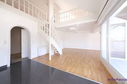 Anspruchsvolles Wohnen mit Sonnenterrasse - 3 Zimmer DG- Galeriewohnung