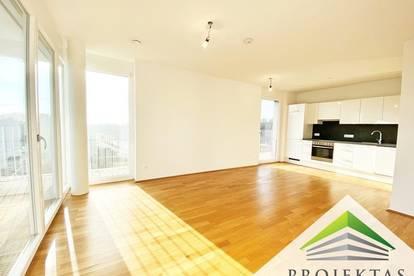 Hervorragende 2 Zimmer-Neubauwohnung mit großer Loggia und Küche!
