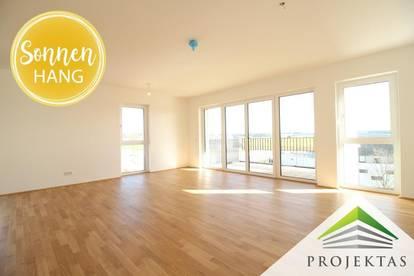 SONNENHANG | Strahlend schön wohnen! 4 Zimmer Neubau-DG-Wohnung mit TG-Platz in Unterweitersdorf! | 360° Rundgang online!