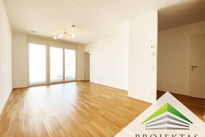 Ideal geschnittene 2 Zimmer-Neubauwohnung mit Loggia und Küche!