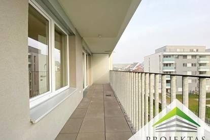 Schöne hofseitige 2 Zimmer-Neubauwohnung mit Loggia und Küche