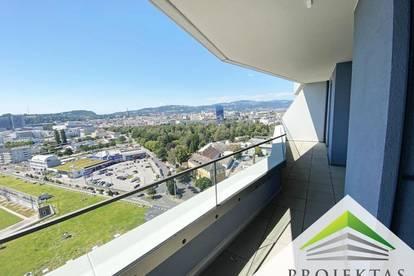 360° Wohnungsrundgang online! LENAU TERRASSEN - 3 Zimmer mit Küche & großem Balkon im 16. OG!