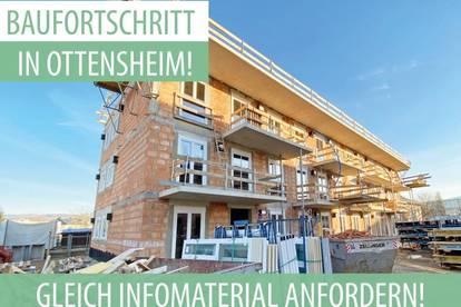 Zügiger Baufortschritt in Ottensheim! Ihre geförderte Neubau 2-Zimmer DG-Wohnung wartet auf Sie!