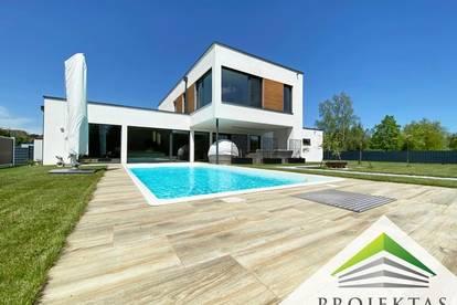Nähe Bad Hall: Moderne High-End Villa mit Pool! 360° Rundgang online!