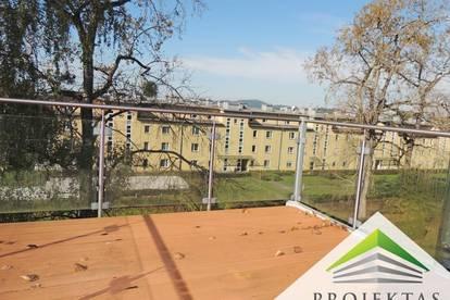 Dachgeschoßwohnung mit großer Terrasse am Bindermichl! Parkplatz inklusive!