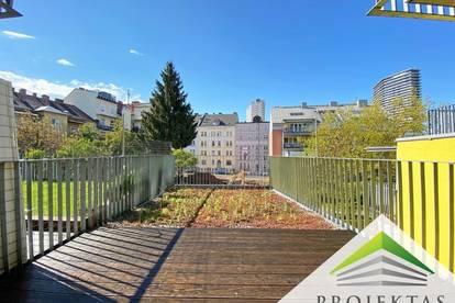 Traumhafte 2 Zimmer Neubau-Wohnung mit Küche und großer Terrasse im Herzen von Urfahr