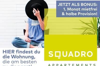 Flexibles Wohnen im SQUADRO! - Vollmöblierte 2 Zimmer Wohnung - Nähe Medizinuni! - Jetzt als BONUS: 1 Monat mietfrei!