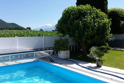 Aigen: Gartenwohnung mit Pool und unverbautem Bergblick!