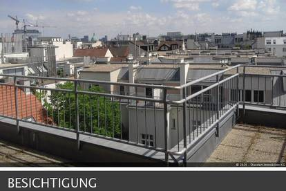 Dachgeschosswohnung, Terrasse, toller Ausblick, Altbau
