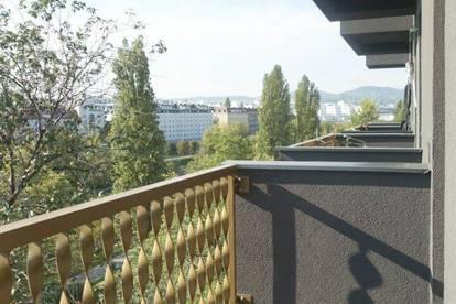 Luxuriöse Pärchenwohnung mit Süd-West-Balkon - tolle Anbindung und herrliche Aussicht - direkt am Donaukanal