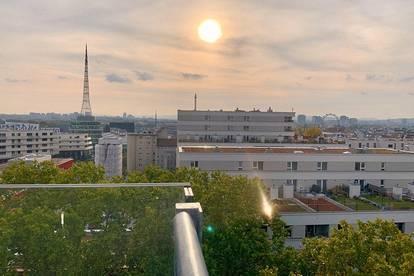 DOPPELTES GLÜCK: DG-Maisonette, 5 Zimmer, Blick über Wien, PROVISIONSFREI