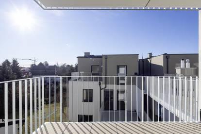 Erstbezug - Innenhofseitige 2 Zimmer mit Balkon, Nähe U1 Kagraner Platz