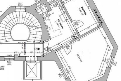 VOTIVKIRCHE / UNIVERSITÄT WIEN / MED UNI WIEN: ALTBAUCHARME IN ALSERGUND: 2 Zimmer mit 48 m2 im 4en Liftstock ab sofort zur Vermietung frei!