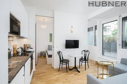 Provisionsfrei, Kurzzeitvermietung bis zu 6 Monaten! Perfekt möblierte 2 Zimmer- Wohnung mit 22m2 Sonnenterrasse!