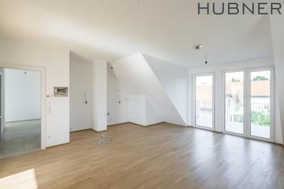 LEOPOLDSDORF: Sonnige Dachgeschosswohnung mit großem Balkon! ERSTBEZUG & PROVISIONSFREI!!!