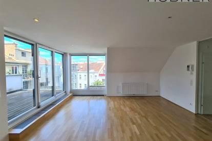 Sonnige Dachterrassen-Wohnung mit fantastischem Weitblick am Donaukanal + Klimaanlage!!